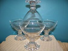 4 vintage ANCHOR HOCKING Boopie Berwick bubble dessert dishes sherbet clear GUC