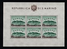 FRANCOBOLLI 1961 SAN MARINO EUROPA 1 FOGLIETTO MNH Z/6284