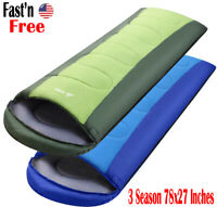 Sleeping Bag Waterproof Camping Backpacking Cold Weather Travel Hiking Compact