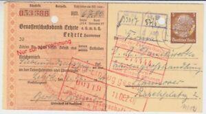 Empire Allemand Verrechnungsscheck Genossenschaftsbank Lehrte 1940 #3