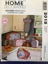McCall's  Pattern M2018 Kitchen appliance covers pot holder