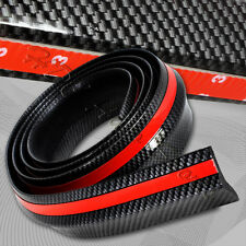 2.5mX65mm Carbon Style Bumper Lip Side Skirt Edge Decorative Protector Universal