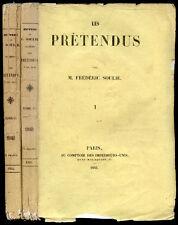 Frédéric Soulié : LES PRETENDUS - 1843. Edition Originale