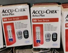 100 Accu-Chek Aviva Plus Blood Glucose T Strips 2 boxes of 50 exp 6/30/22