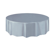 Amscan Plastic Round Tablecovers Table Cloth Cover Catering Events 19 Colours Silver Sparkle Party Tableware
