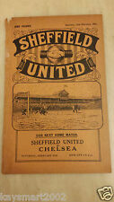 1930/31 Central League: SHEFFIELD UNITED RES. v BURY RESERVES - 14th February