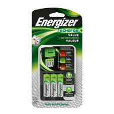 Energizer Value Charger with 4 AA NiMH Rechargeable Batteries Included