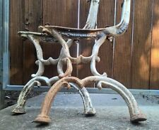 Antique Vintage Cast Iron Outdoor Garden Park Bench Seat Chair Ends