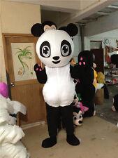 New Lovely Female Panda Bear Mascot Costume Fancy Dress Adult Suit Gift Surprise