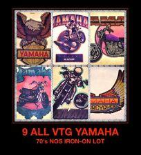 NOS 70's LOT YAMAHA Motorcycle Motocross MotorBike YZ80 vTg Orig t-shirt iron-on