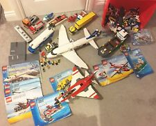 MASSIVE LEGO City Harbour 4645,7893 Plane,5892 Sonic Boom, Bundle,mini Figures