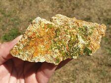 """Crocoite et Pyromorphite """"Le cantonnier"""" 128g France minéraux mineral Dordogne"""