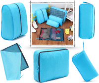 5Pcs Ultra light Luggage Organiser Suitcase Packing Cubes Travel Pouches Bags