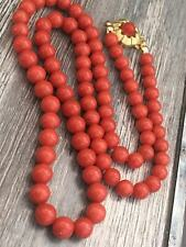 Antique old natural red coral necklace other gold silver amber turquoise jewelr