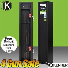 NEW KENNER 4 Rifle Storage Gun Safe Firearm Lockbox Steel Cabinet BLACK 3