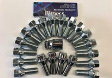 16 X M14X1.5 SILVER 60° ALLOY WHEEL BOLTS + 4 X LOCKS 20mm FOR AUDI A1 A3 A4 A5
