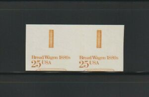 """US EFO, ERROR Stamps: #2136a Bread Wagon. Imperf & miscut w/ """"EE"""" bars! MNH"""