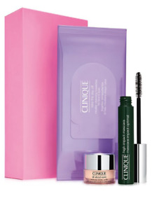 NIB Clinique High Impact Mascara, All About Eyes Rich & Micellar Cleansing Wipes