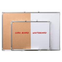 Magnetic Whiteboard Pin Cork Board Dry Wipe White Memo Notice Board 1200 x 900mm