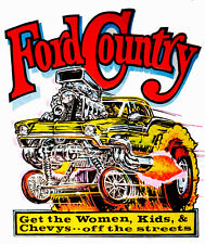 FORD RAT ROD HOT ROD STICKER  RAT FINK  RACING TOOL BOX  GAS OIL  MOTORCYCLE