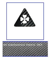 ADESIVO QUADRIFOGLIO  sticker  giulia  giulietta mito 147 159 CARBON IO 3D