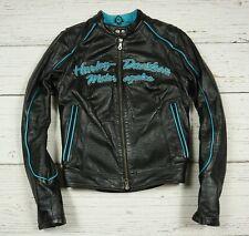 HARLEY DAVIDSON GENUINE LEATHER JACKET MOTORCYCLE COAT WOMEN'S Size S