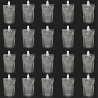 20PCS 8Oz Clear Spout Bags Stand Up Bag Liquid Bag Flask Pouch With Cap