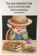 Mary Engelbreit Handmade Magnet-The Most Important Step Of All is the First Step
