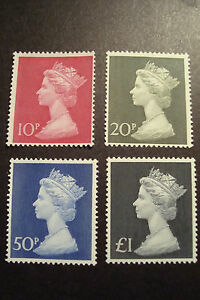 GB 1970/2 Machin Stamps to £1~4 Values ~SG 829-31b~Unmounted Mint~UK Seller