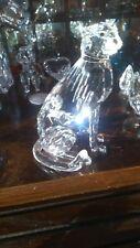 Swarovski Crystal Figurine Cat Large Cat Cheetah / Lion / Tiger Mint