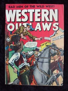 WESTERN OUTLAWS #19 1949 FOX FEATURE SYNDICATE GOLDEN AGE