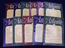 1946 THE ATLANTIC MONTHLY MAGAZINE LOT OF 11 ISSUES - GREAT ADS - WR 547