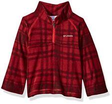 Columbia Boys' Big Glacial Ii Printed Fleece Half Zip Jacket, Mountain Red Pl.