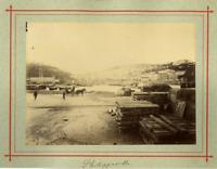 Algérie, Philippeville Vintage albumen print.  Tirage albuminé  13x18  Cir