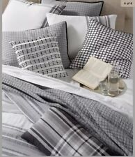Hotel Collection EURO Pillowsham MATELASSE Grey Cotton Linen
