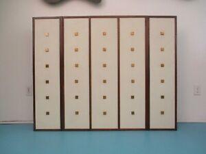 Johnson Furniture Wall Cabinet baker dunbar mid century modern design