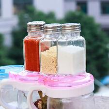 1x Food Seasoning Cruet Salt & Pepper Pots Spreader Shaker Jar Holder UK