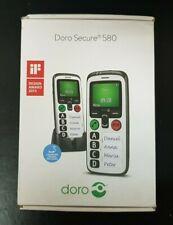 DORO SECURE 580 BLACK / WHITE SPEAKER PHONE / GSP HANDSET