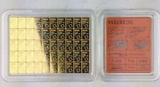 1 gram Gold Bar - Valcambi Suisse CombiBar - One Square 1g Bullion Bar
