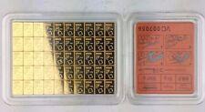 1 gram Gold Bar - Valcambi Suisse CombiBar - One Square 1g Bullion Bar