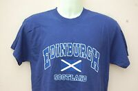 SCOTLAND HOMECOMING EDINBURGH ST ANDREWS FLAG T-SHIRT NAVY BLUE Medium