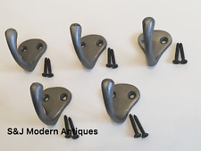Single Coat Hook Iron Antique Modern Classic Vintage Black Grey Hat Rack Set 5
