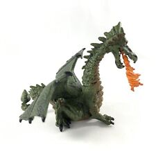 Papo Green Fire Breathing Dragon 2005 Wings Mythological Retired 4 Inch