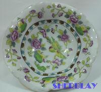 """Vintage PORCELAIN Floral Bowl Made in Japan 7"""" Diameter"""