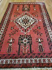 4.1 x 6.6 Antique Caucasian Oushak Serapi Kazak Vintage Heriz Shirvan Kula