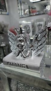 Angel On Book Sparkly crushed  diamond Ornament 💎