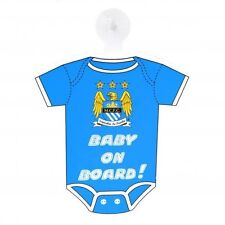 Manchester City Kit Baby on Board Sign - Multi-Colour official merchandise new