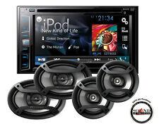 "Pioneer AVH-X2800BS DVD 6.2"" Receiver w/ 6x9"" TS-695P & 6.5"" Speakers TS-165P"