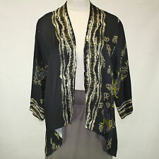 NEW NWT Citron Clothing Plus Size Fall Winter Butterfly 100% Silk Cardi Top 3X
