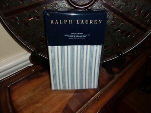 NIP Ralph Lauren Islesboro McKensie Blue/Cream Stripe King Pillowcases